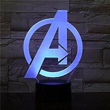 LED Night light Marvel A Sign The Avengers Captain