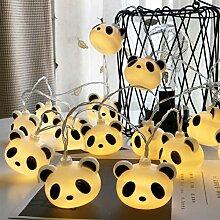 LED Panda USB Guirlandes, Fil de cuivre Guirlande