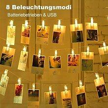 LED photo Clips Guirlande lumineuse