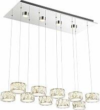 LED plafonnier pendule lampe suspendue chrome