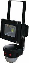 LED Projecteur 10W 6000K IP65 avec détecteur de