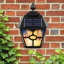 LED Solaire Lumière Rétro Flamme Torche Feu Mur