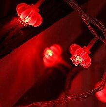 LED solaire petite lanterne rouge lanterne