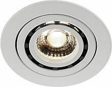 LED spots encastrés au plafond salon cuisine