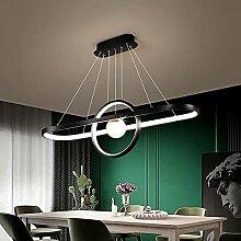 LED Suspensions Luminaire Scandinavie Anneaux Noir