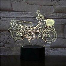 Led Veilleuse Moto 3D Lampe De Table Ampoule 3D