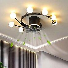 LED Ventilateur Ave Plafonnier Dimmable Salon