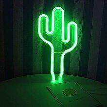 LED verte Cactus Enseignes lumineuses décorations
