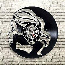 LED Vinyle Horloge Murale Design Moderne