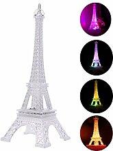 LEDMOMO Coloré Tour Eiffel Nuit lumière, 7