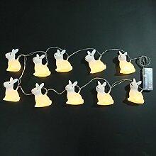 LEDMOMO Guirlande lumineuse 10 LED à piles -