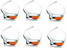 Ledph Verre Whisky, Tumbler Bottom Rotatif Verres