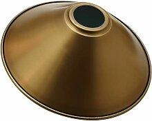 LEDSone Abat-jour conique moderne en métal jaune,