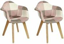 Leela - lot de 2 fauteuils enfant roses motif