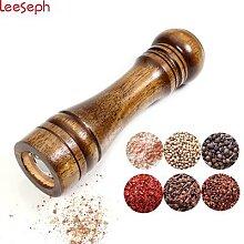 Leeseph-Moulin à sel et à poivre robuste en bois