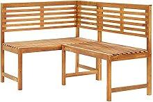 LEFTLY Banc d'angle de jardin en bois