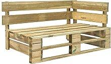 LEFTLY Banc d'angle en bois pour palette de