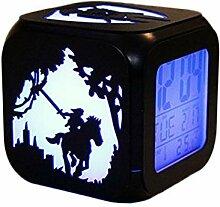 Legend Bois Creative 3D Stéréo Petit Réveil LED