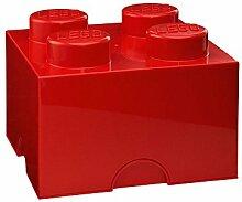 Lego Boite Rangement Lego Rouge M 4 plots