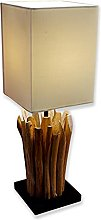 Leilani Lampe de table en bois flotté 45 x 15 cm