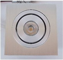 LELEX 1 encastré, carré, alu brossé, LED 3000K