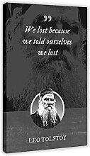 Leo Tolstoy Posters classiques avec citations