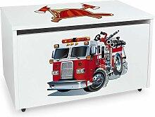 Leomark - Coffre à jouets XXL sur roues: Pompiers