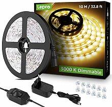 Lepro 10M Ruban LED Dimmable, Bande LED Blanc