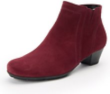 Les bottines 100% cuir  Gabor rouge | 38,5