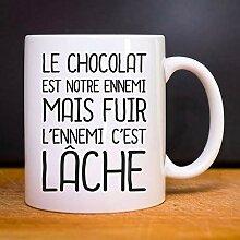 Les Éphémères Mug LE CHOCOLAT EST NOTRE ENNEMI