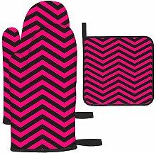 Les gants de cuisine et maniques à motif chevron