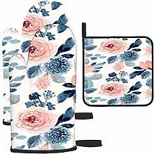Les gants de cuisine et maniques à motif floral
