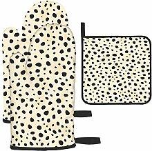 Les gants de cuisine et maniques à motif guépard