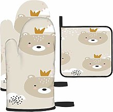 Les gants de cuisine et maniques avec motif ours