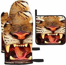 Les gants de cuisine et maniques en forme de tigre
