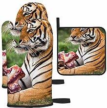Les gants de cuisine et maniques Tiger du Bengal