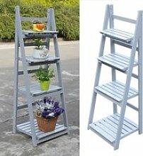 LESHP® Etagère à fleurs en bois escalier pour