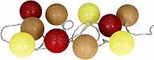 levandeo Guirlande lumineuse 10 boules LED en
