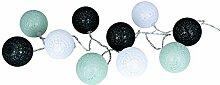 levandeo Guirlande lumineuse à 10 boules LED en