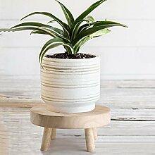 Leww Mini tabouret en bois - Style vintage - Pour