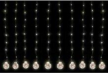 Lex LED Rideau Lumineux Avec 10 Boules Et 200