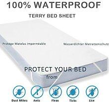 LFH – drap de lit imperméable en tissu éponge,