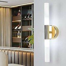 LG Snow Moderne Minimaliste LED Chambre Or Lampe