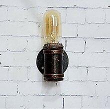 LG Snow Pipe à eau en fer forgé mur lampe