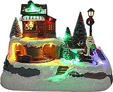LGESR Polyresin Christmas Village Maisons Maisons