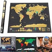 LGVSHOPPING Carte du monde à gratter carte