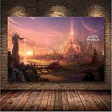 LGYJAL Affiche de Carte de Jeu Classique HD sans