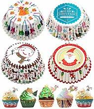 Lhbfcy Mini étuis à muffins Noël Caissette