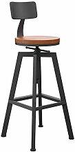 LHDQ Tabouret de Bar en Bois réglable, chaises de