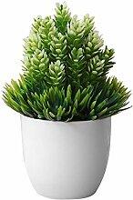Lhzus Petit arbre artificiel Plante en pot Faux